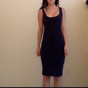 Skin tight navy blue dress